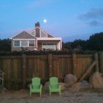 #1 Shorecrest Beach house - Moon over the Shorecrest Beach house